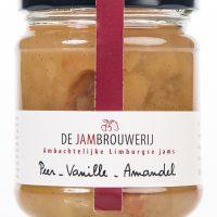 Ambachtelijke jam confituur van peren, vanille en amandel